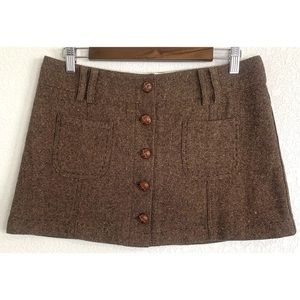 American Eagle Outfitters brown skirt size 8